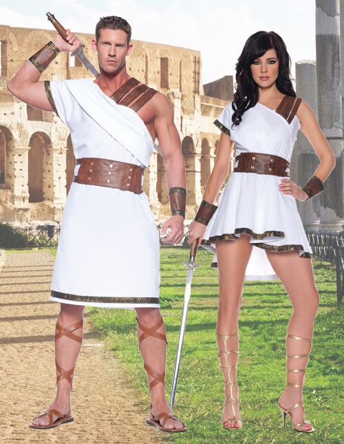 Couples Greek Warrior Costumes  sc 1 st  Halloween Costumes & Roman Warriors u0026 Greek Goddess Costumes - HalloweenCostumes.com