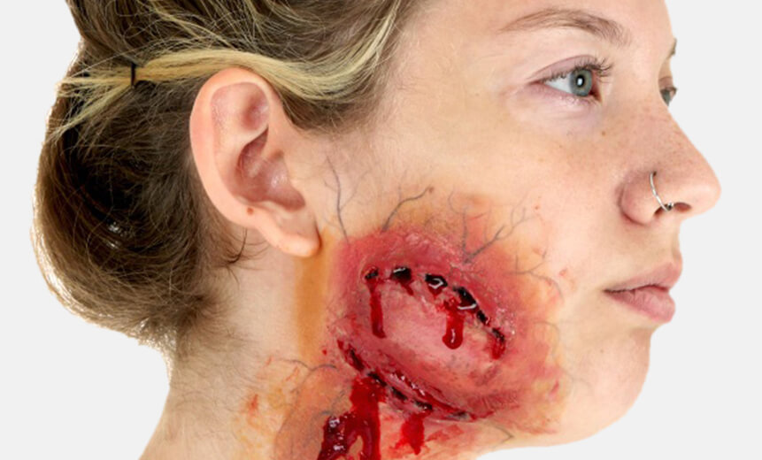 Zombie Bite Makeup Tutorial- Starting Look