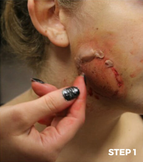 Zombie Bite Makeup Tutorial- Step 1
