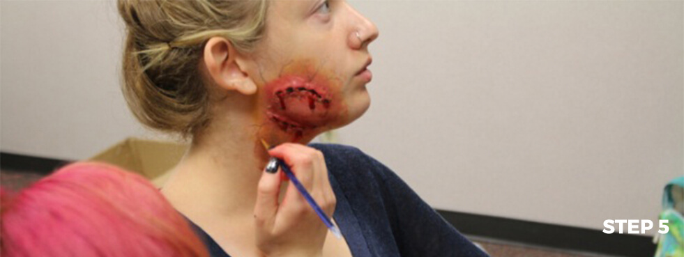 Zombie Bite Makeup Tutorial- Step 5