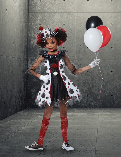 Scary Clown Costume for Girls