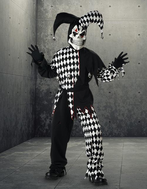 Kids' Evil Jester Costume