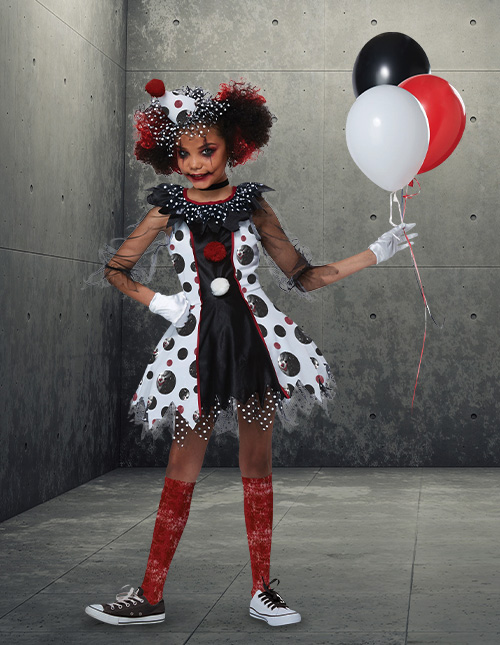 Scary Clown Costumes for Girls