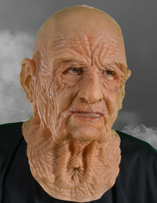 Scary Old Man Halloween Mask