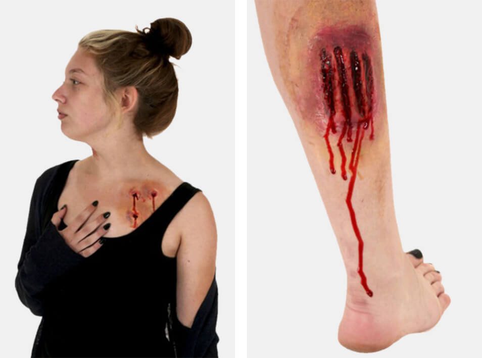Fake Wounds and Gashes Makeup Tutorial- Finished Look