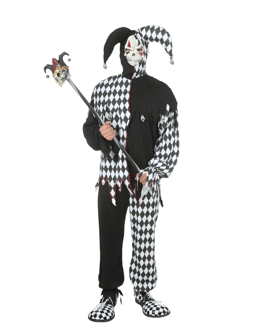 Scary costumes for halloween adult kids scary costumes scary dark jester costume solutioingenieria Image collections