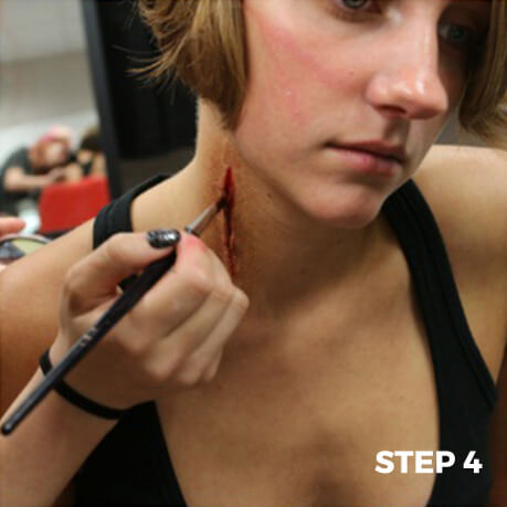 Special Effects Makeup Cut Tutorial - Step 4