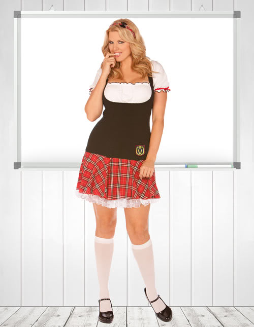 Plus Size Frisky School Girl Costume