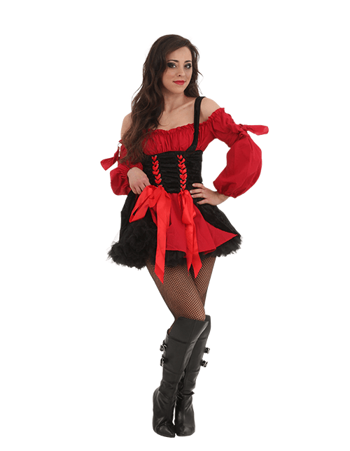 Sexy Pirate Costume with a Petticaot