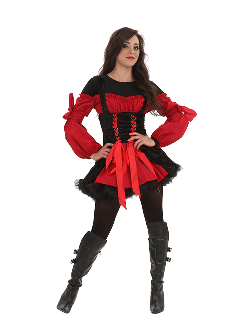 Sexy Pirate Costume with Long Sleeve Shirt