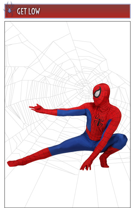 Spider-Man Pose Get Low