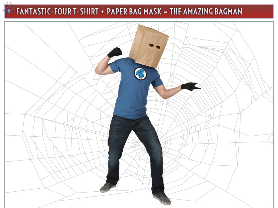 Fantastic Four Paper Bag Spider-Man Costume