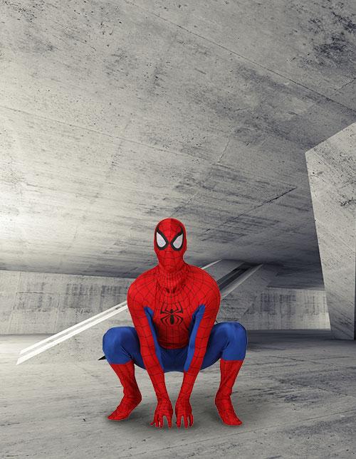 Spider-Man Crouch