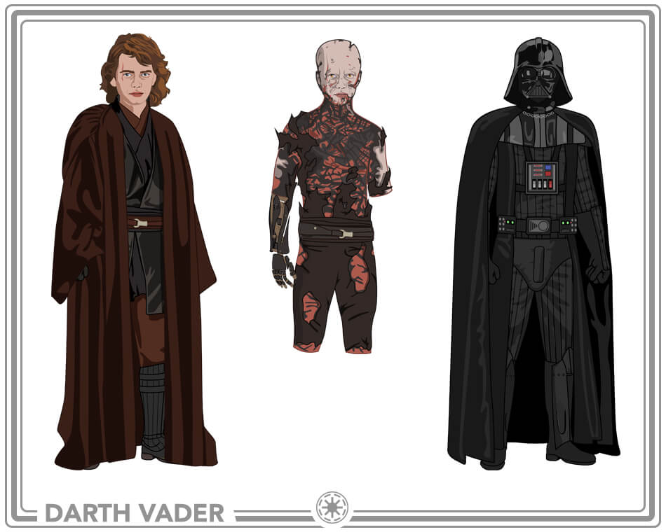 Anakin and Darth Vader Costume Ideas