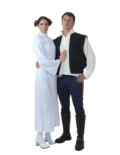 Princess Leia and Hans Solo Couples Costumes