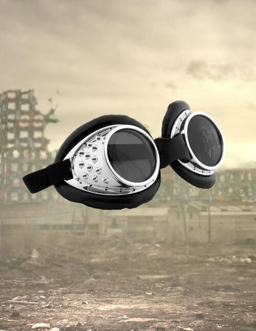 Radioactive Aviator Goggles