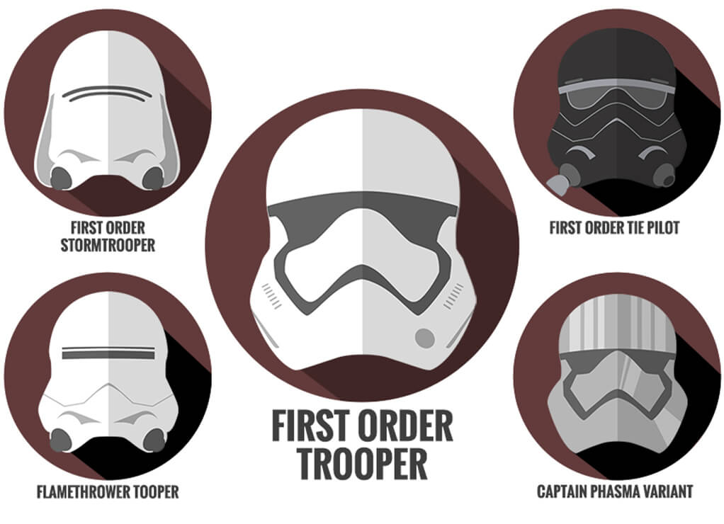 First Order Trooper Helmets