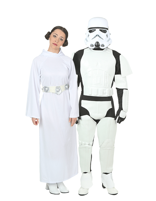 Stormtrooper and Princess Leia Couples Costumes