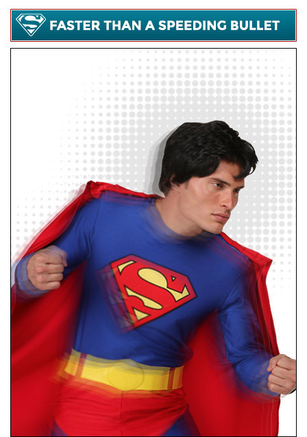 Superman Poses Faster Than a Speeding Bullet