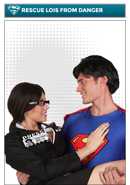 Superman and Lois Lane Couples Costume
