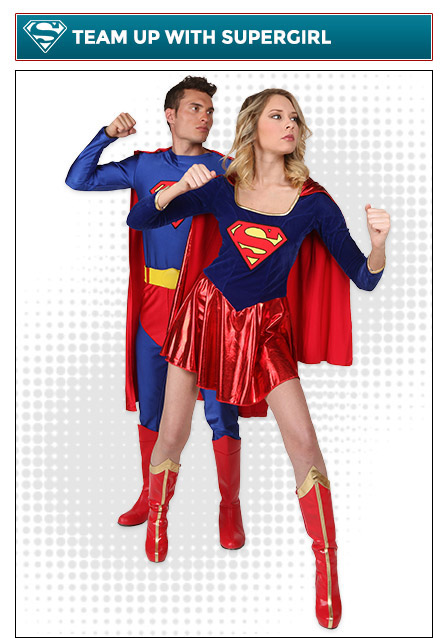 Superman and Supergirl Couples Costume
