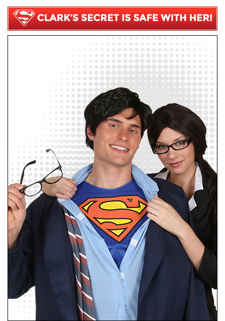 Clark Kent and Lois Couples Costume