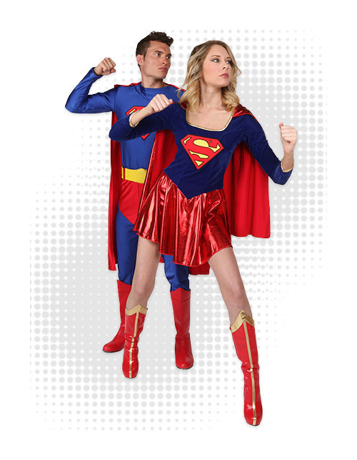Superman and Supergirl Costumes