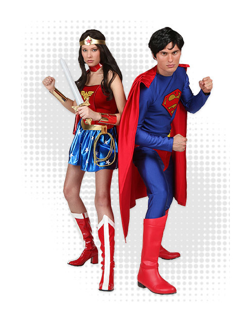 Superman and Wonder Woman Costumes