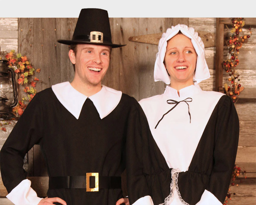 Thanksgiving Costumes - Adult, Child Pilgrim and Indian Costume