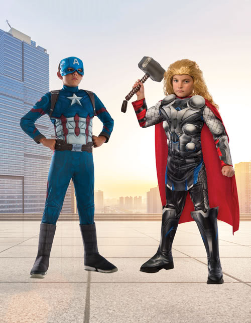 Thor and Captain America Costumes