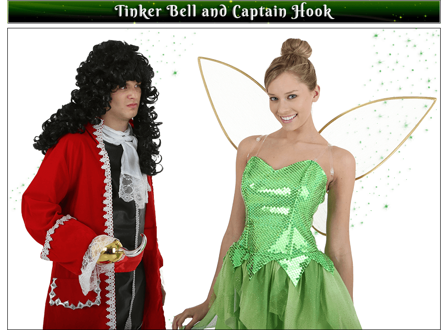 Tinker Bell and Captain Hook Couples Costume Idea
