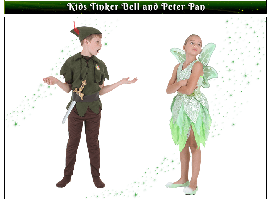 Kids Tinker Bell and Peter Pan Couples Costume Idea