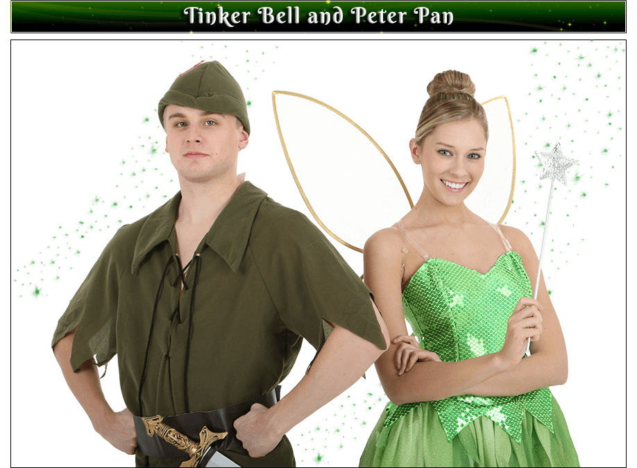 Tinker Bell and Peter Pan Couples Costume Idea