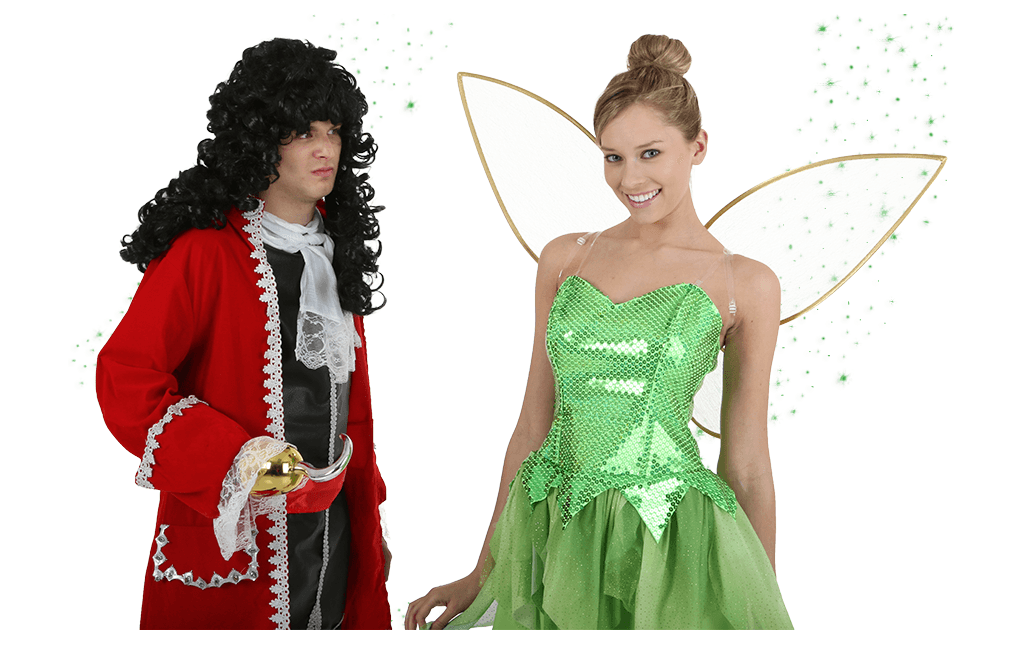 Tinker Bell and Captain Hook Costumes