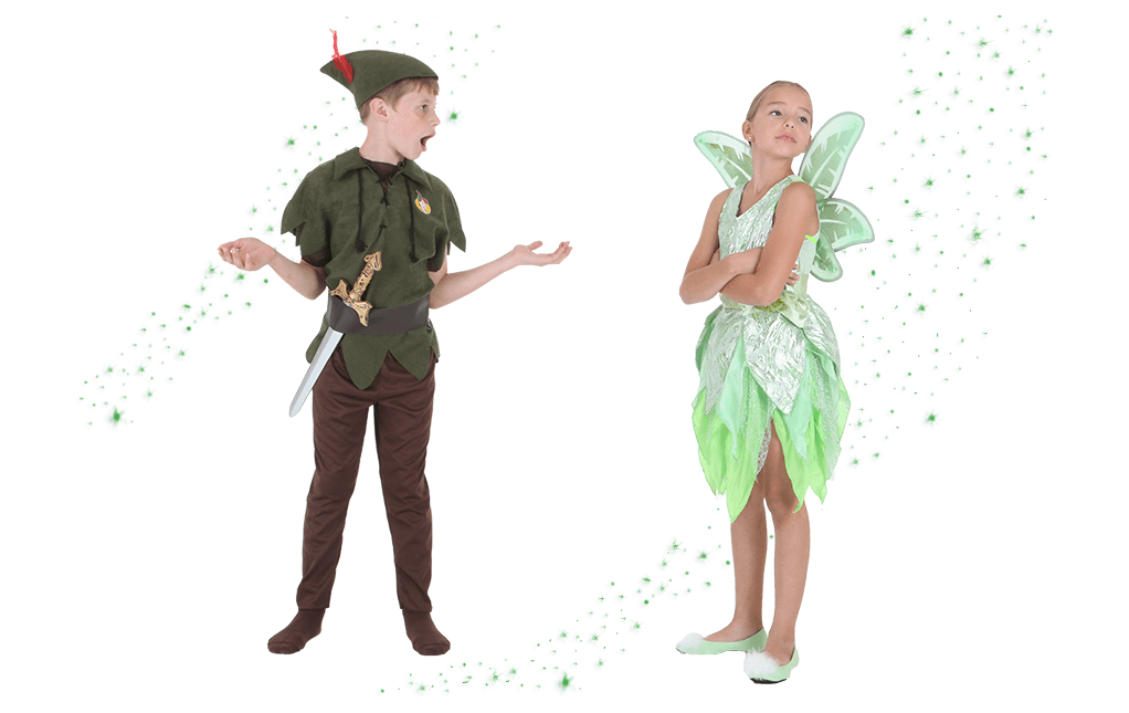 Kids Tinker Bell and Peter Pan