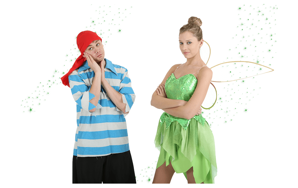 Tinker Bell and Smee Costumes