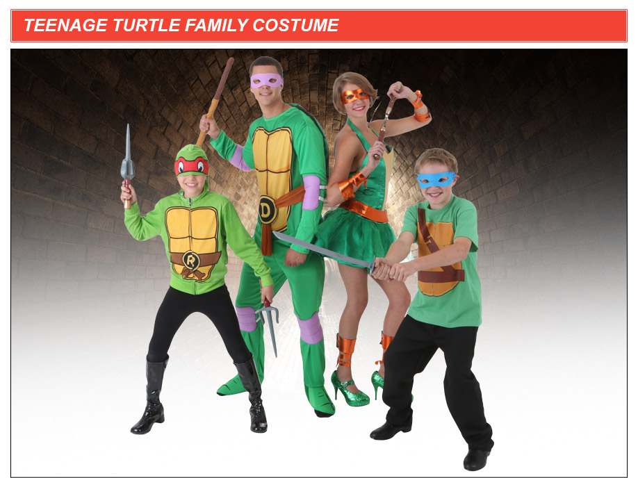 TMNT Family Costume & Teenage Mutant Ninja Turtles Costumes - HalloweenCostumes.com