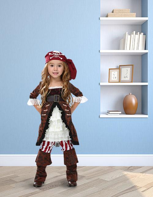 Toddler Pirate Girl Costume