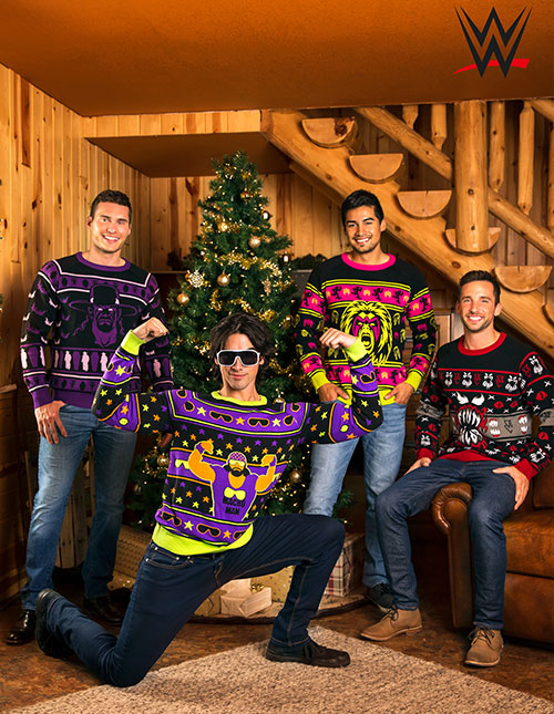 WWE Ugly Christmas Sweaters