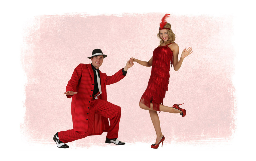 Valentine's Day Flapper Costumes