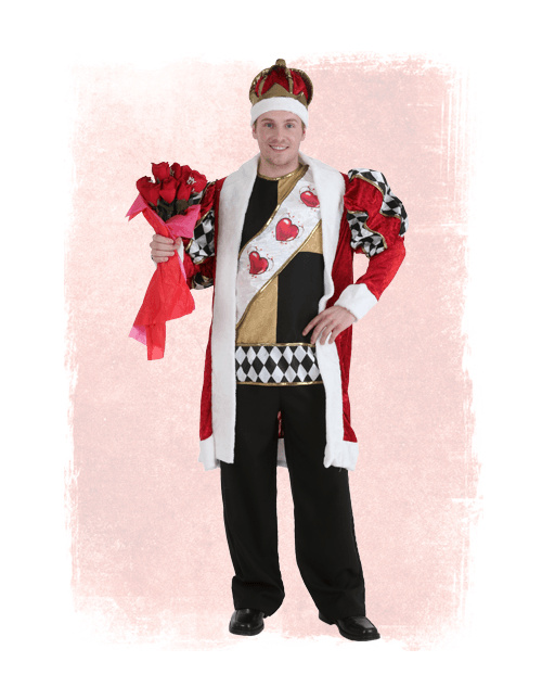 Valentine's Day King of Hearts Costume