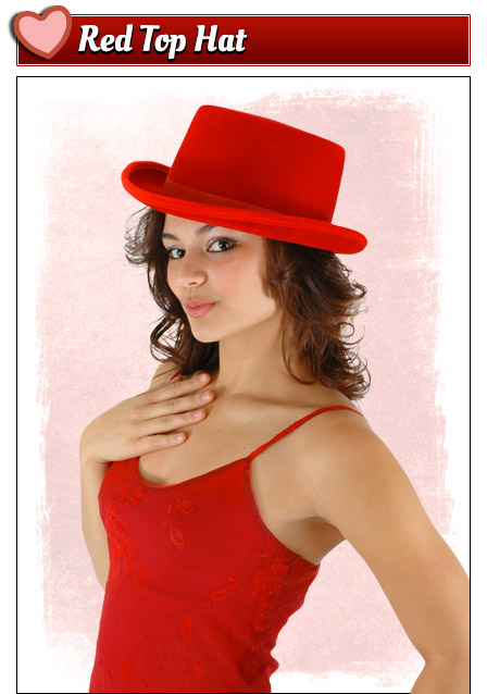 Red Top Hat Valentine's Day Accessory