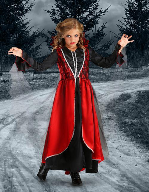 Vampire Halloween Costume For Girl