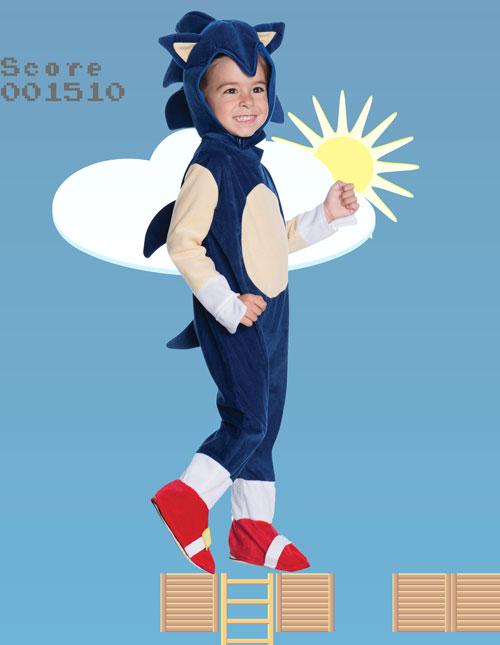 Kids Sonic the Hedgehog Costume