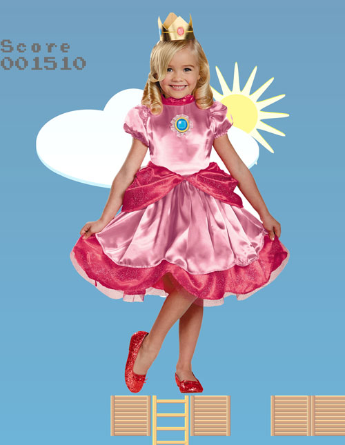 Kids' Princess Peach Dress