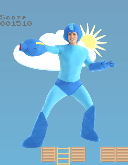 Men's Mega Man Costume