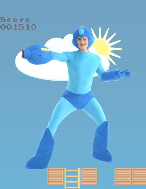 Men's Mega Man Costume