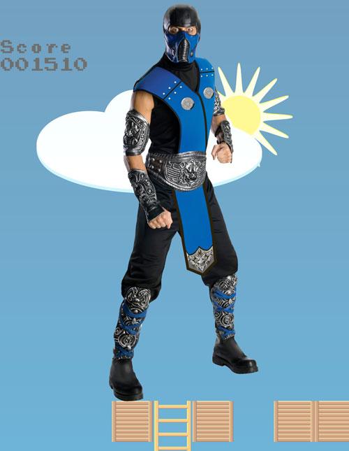 Men's Sub-Zero Costume