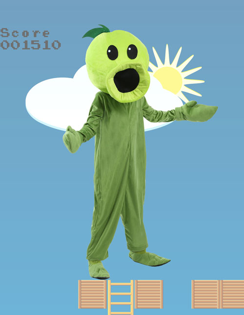 Child Plants Vs Zombies Peashooter Costume