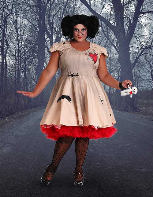 Plus Size Voodoo Doll Costume